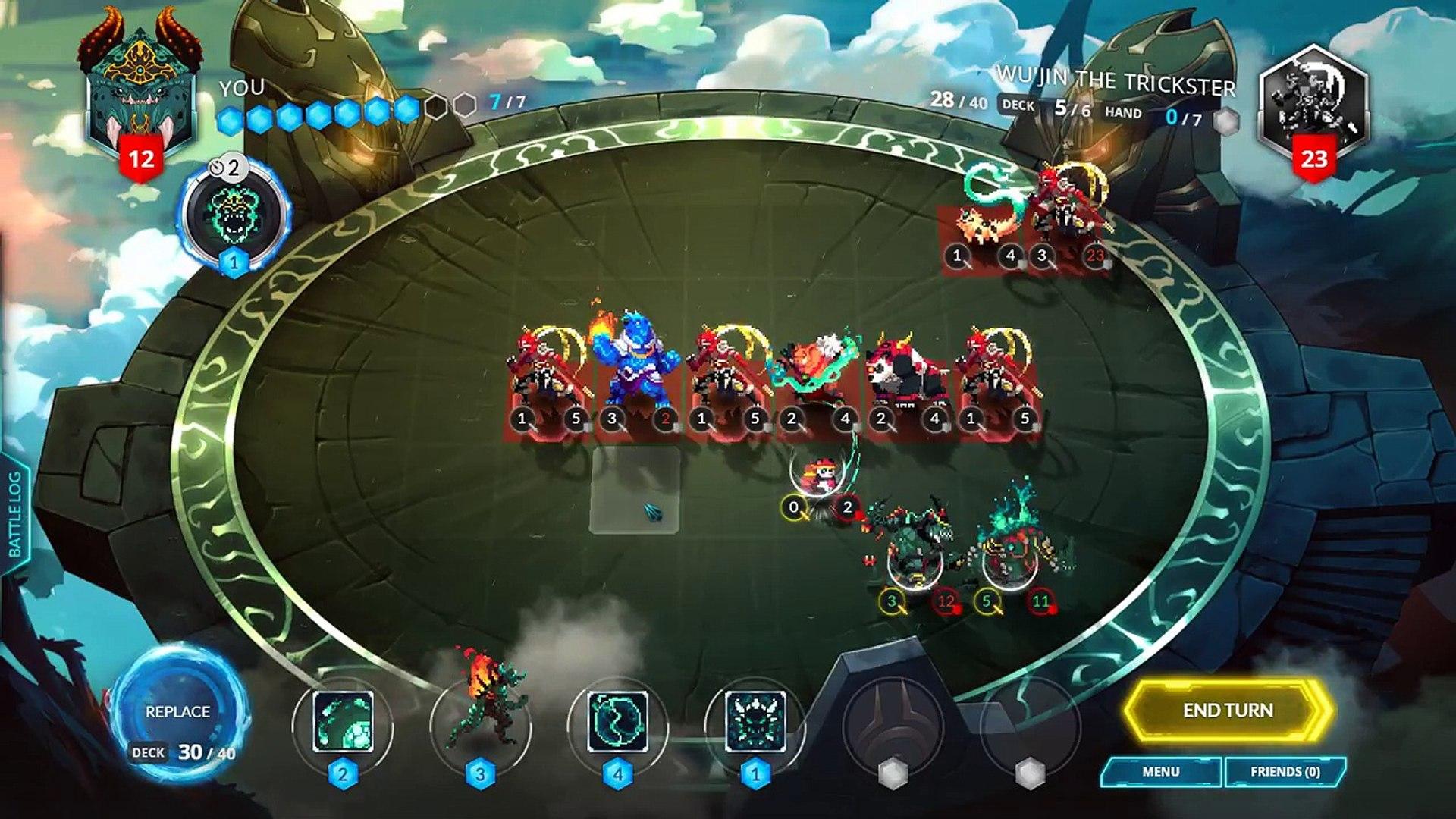 Duelyst Boss Battle 10: Budget Wu'Jin the Trickster