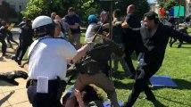 Violentes images à Washington d'affrontements entre le service de sécurité d'Erdogan et des manifestants