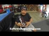 Robert Garcia on Santa Cruz vs Frampton - diet LOST 15 POUNDS !EsNews Boxing