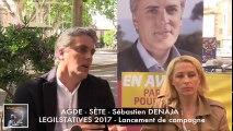 HERAULT - AGDE - SETE - PRÉSENTATION et INTERVIEW de Sébastien DENAJA à l'occasion du lancement de sa campagne Législative