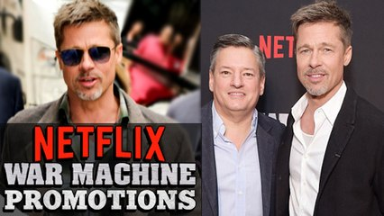 Brad Pitt Promoting Netflix's 'War Machine' In NYC In Super Thin New Look