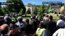 Etats-Unis : Confrontation entre le service de sécurité d'Erdogan et des manifestants