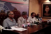 Freedom fighter of Pakistan Azad bin Hyder press conference at National Press Club Islamabad report by PCCNN CH.Ilyas