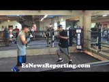 Mikey Garcia MONSTER POWER Working Mitts with Robert Garcia - EsNews Boxing