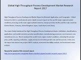 Global High Throughput Process Development Market Research Report 2017