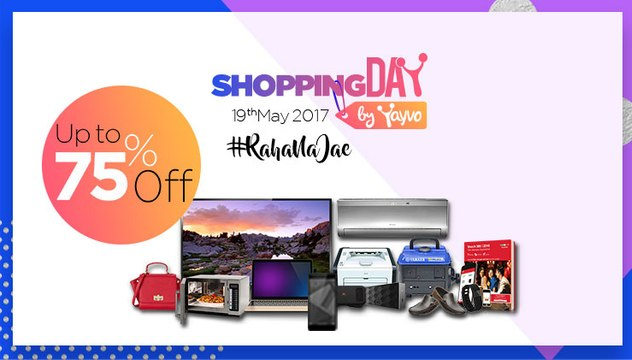 Pakistan's First Ever Online Shopping Day on 19th May,2017 - Up to 75% Discount