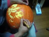 """Pumpkin Carving """"HAPPINESSCHARGE PRECURE"""" ハロウィンかぼちゃ「ハピネスチャージプリキュア」"""