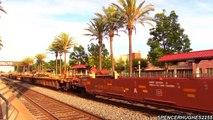 Fullerton, CA - Amtrak Trains, BNSF Trains, Metrolink Trains in (August 2nd, 2013)