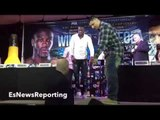 DEONTAY WILDER VS CHRIS ARREOLA TITANIC FACE OFF!!! CLASH OF THE TITANS!!! - EsNews Boxing