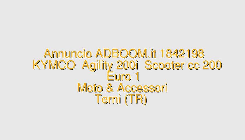 KYMCO  Agility 200i  Scooter cc 200