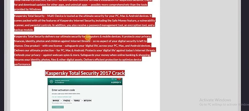 kaspersky total security 2018 activation code free for you