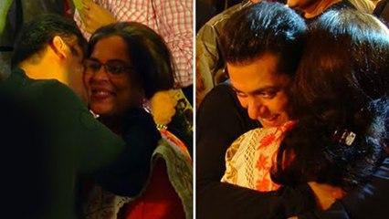 Salman Khan Hugs And Kisses Reema Lagoo Emotional Video Throwback