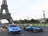 Les Renault ZE16 et Zoe e-Sport en action dans Paris