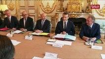 Premières images du conseil des ministres