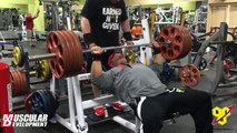 Dallas McCarver's Chest & Arms Workout with Heavy Straight Sets at Golds Gym