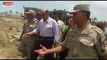 محافظ دمياط ومدير الأمن يتابعان إزالة التعديات على 13 فدان بدمياط الجديدة