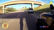 Un policier se retrouve face à un conducteur armé pendant un contrôle