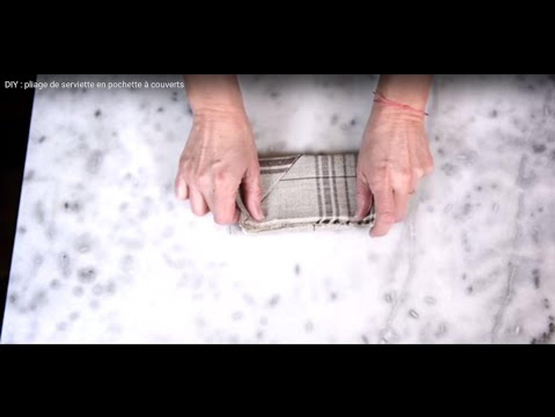 Pliage Serviette Facile Range Couverts diy : pliage de serviette en pochette à couverts