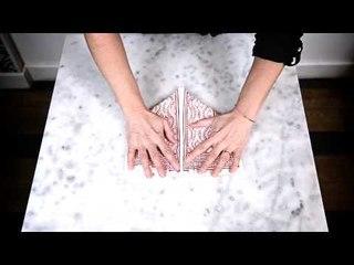DIY : pliage de serviette en cœur