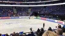 2017 WC Helsinki Practice Day 2 - Zijun Li SP Run-through