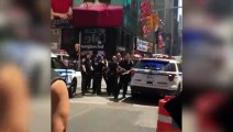 New York, Times Square. The moment that the driver of the honda accord was detained.