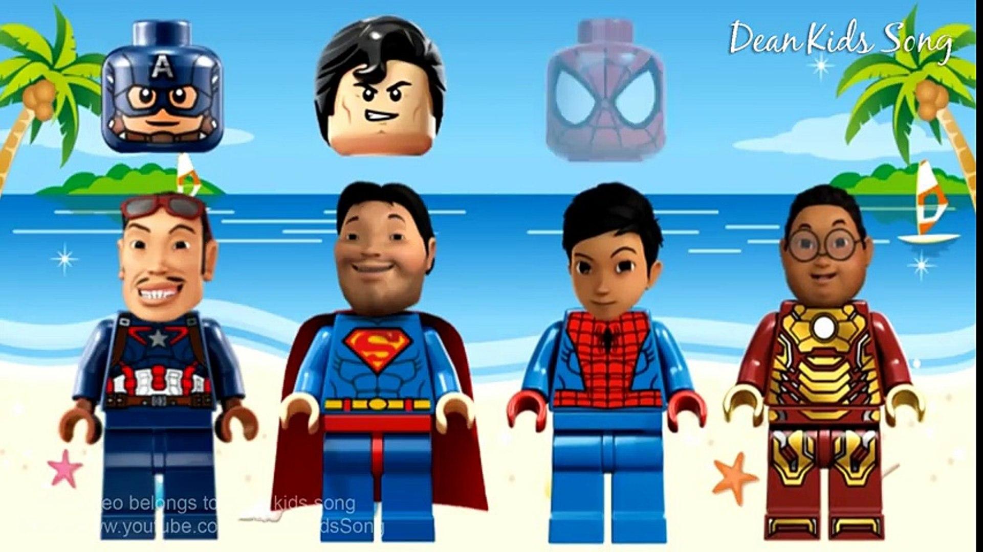 Wrong Heads Lego Superheroes Adit Sopo Jarwo Video Lucu Anak Anak By Dean Kids Song