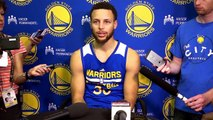 【NBA】Stephen Curry Practice Interview  Warriors vs Spurs  Game 3  May 18, 2017  NBA Playoffs
