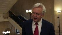 David Davis denies he wants to 'put Juncker back in his box'