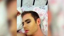 Elle se venge de son copain qui lui a mis un plan en le maquillant pendant son sommeil
