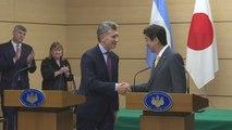 Abe y Macri acuerdan potenciar relaciones comerciales tras dos décadas de distanciamiento