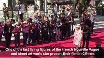 Cannes: Agnes Varda, street artist JR present their documentary