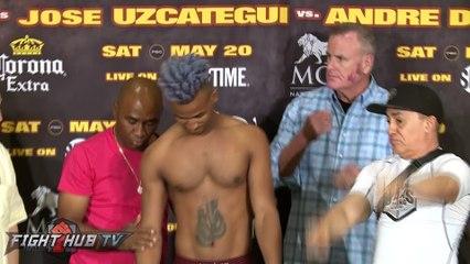 Gary Russell Jr. vs. Oscar Escandon Full Weigh In & Face Off Video