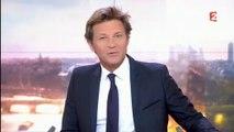 Laurent Delahousse évoque David Pujadas hier soir à la fin de son 20h