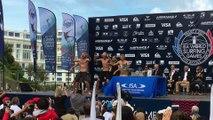 Adrénaline - Surf : Le haka de l'équipe de Nouvelle-Zélande de surf aux mondiaux ISA 2017 à Biarritz