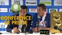 Conférence de presse RC Strasbourg Alsace - FBBP 01 (2-1) : Thierry LAUREY (RC Strasbourg Alsace) - Hervé DELLA MAGGIORE (FBBP 01) - 2016/2017
