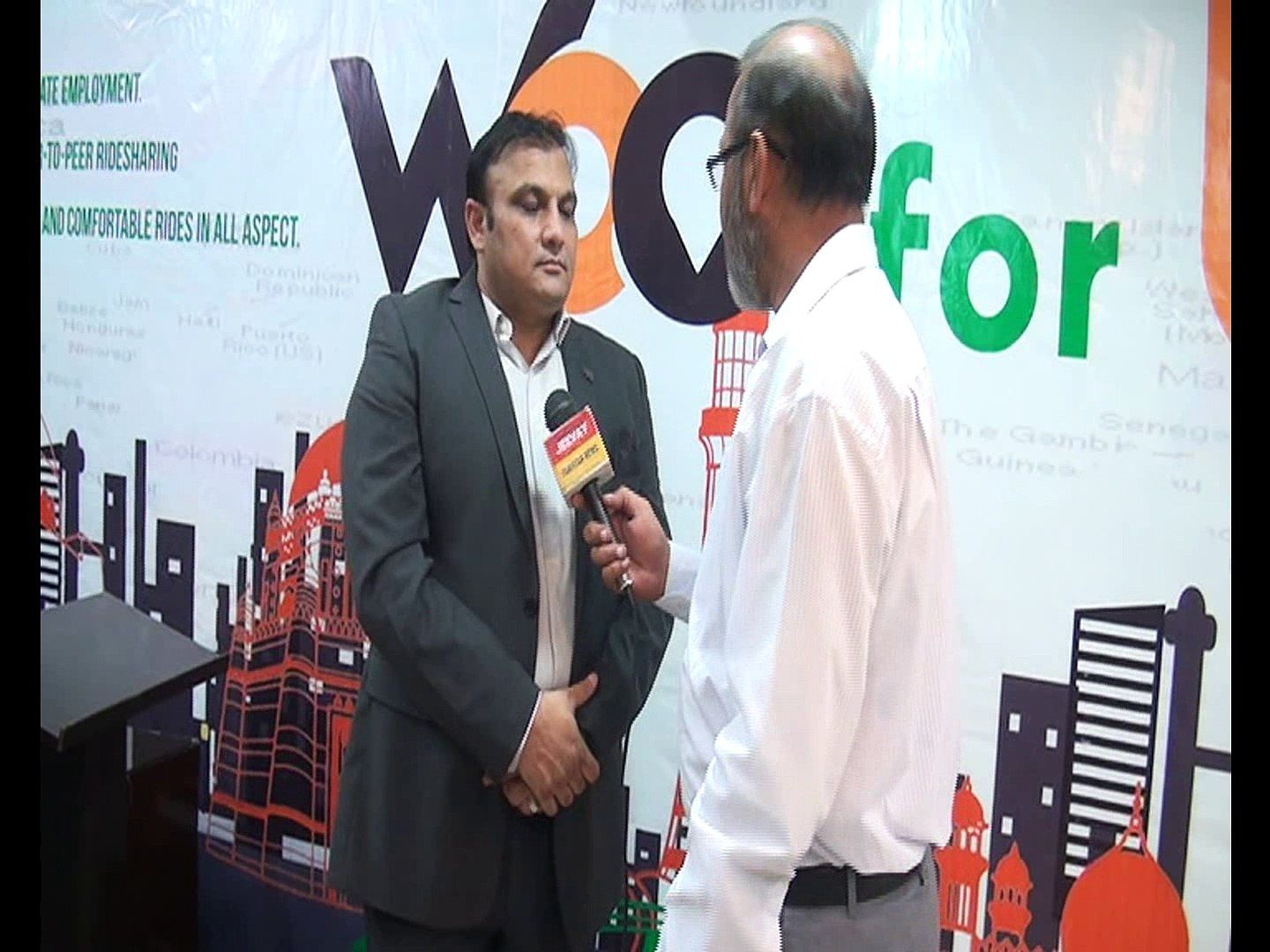 Woo Ride- A First Pakistani Vehical Booking APP Company Opening Ceremony, Dr Kaisar Rafiq talked wit