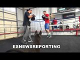 Mikey Perez Working Mitts With Robert GARCIA EsNews Boxing