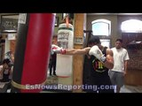 VICIOUS VICTOR ORTIZ HIGHLIGHT REEL WORKOUT!!! IN KILLER SHAPE!!! - EsNews Boxing