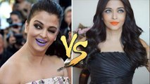 Aishwarya Rai PURPLE LIPS v/s ORANGE LIPS | Cannes 2017 | Cannes 2016