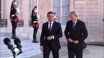 Emmanuel Macron a reçu Paolo Gentiloni à l'Elysée