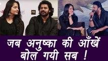 Baahubali actor Anushka Shetty UNABLE to HIDE FEELINGS for Prabhas | FilmiBeat