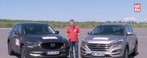 Comparativa en vídeo: Mazda CX-5 contra Hyundai Tucson