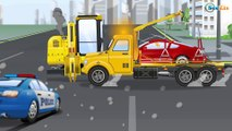 Cop Cars Children Video - The Police Car CRASH New Kids Cars & Trucks Cartoons for children