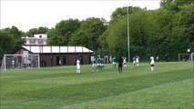 Sunday league footballer scores perfect free kick