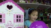 Big Purple Egg Surprises Golden Kinder Surprise Egg Toys HELLO KITTY DOLL HOUSE PLAYSET Frozen Anna-Il