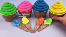 Play Doh Cupcakes Surprise Toys Learn Colors with Playdough Modelling Clay Fun and Creative for Kids-9