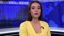 Cette présentatrice russe est interrompue en plein direct par un chien !