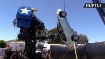 American Battle Mech 'MKIII' Prepares For Robot Rumble with Japanese Megabot Kuratas