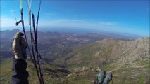 Col de Battaglia en parapente Rook 2 de 777 / Col of battaglia Upper Corsica in paragliding Rook 2 to 777