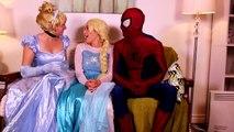 Frozen Elsa Turns into a BAD BABY! w_ Spiderman Pink Spidergirl Joker Anna! Funny Superhero Video  -)-x